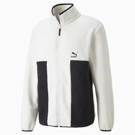 CLSX Sherpa Men's Jacket, Ivory Glow, small