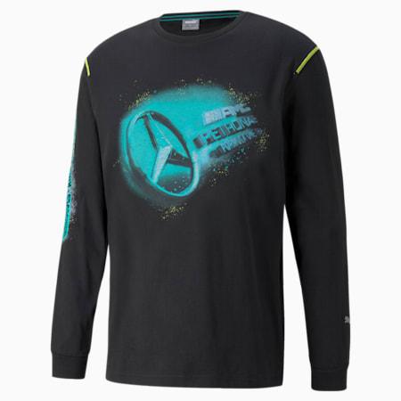 Camiseta de mangas largas estampada F1 Street para hombre, Puma Black, pequeño