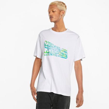 메르세데스 F1 Street Graphic 티셔츠, Puma White, small-KOR