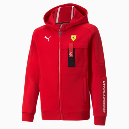 Ferrari Race Hooded Kid's Sweat Jacket, Rosso Corsa, small-IND
