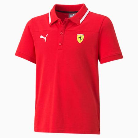 Scuderia Ferrari Race Youth Polo Shirt, Rosso Corsa, small-SEA