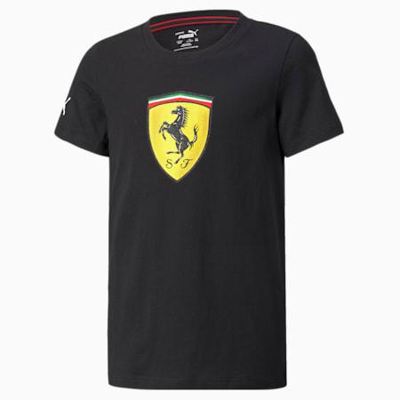 Camiseta Scuderia Ferrari Race para niño grande, Puma Black, pequeño