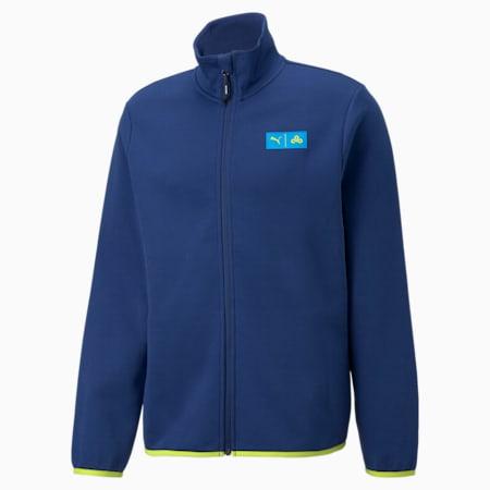 Giacca da eSport con zip integrale PUMA x CLOUD9 Overpowered uomo, Elektro Blue, small