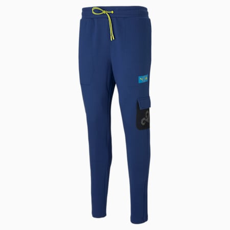 PUMA x CLOUD9 Overpowered Men's Esports Pants, Elektro Blue, small-GBR