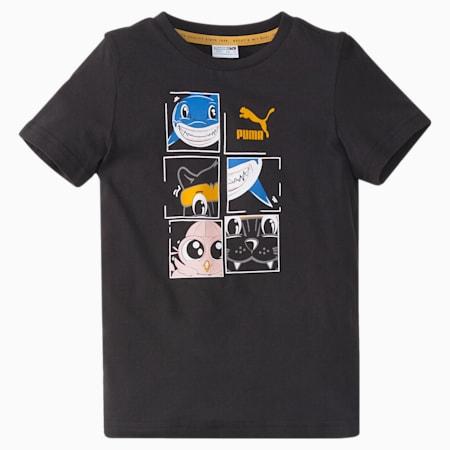 LIL PUMA Kids' Tee, Puma Black, small-SEA