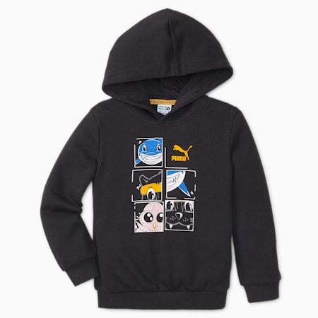 LIL PUMA Kids' Hoodie, Puma Black, small-SEA