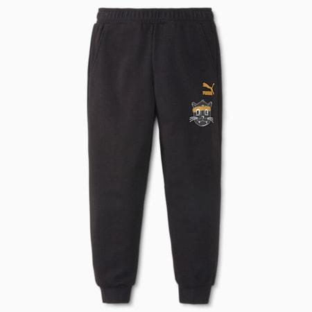 LIL PUMA Kids' Sweatpants, Puma Black, small-SEA