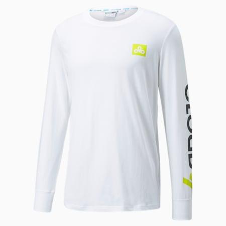 T-shirt da eSport a maniche lunghe PUMA x CLOUD9 Carry on uomo, Puma White, small