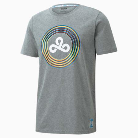 T-shirt d'e-sport PUMA x CLOUD9 Burst homme, Medium Gray Heather, small