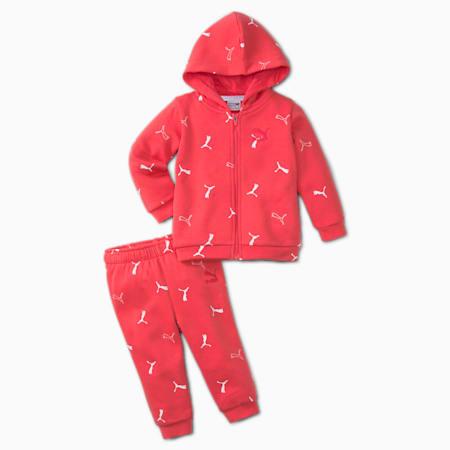 Minicats Brand Love Printed Babies' Jogger Set, Paradise Pink, small-GBR