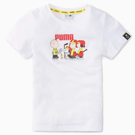 PUMA x PEANUTS Kids' Tee, Puma White, small-SEA