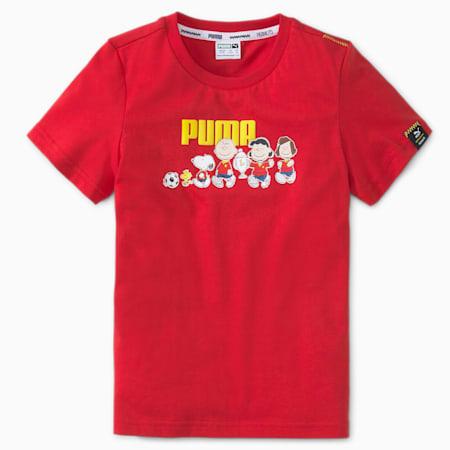 PUMA x PEANUTS Kids' Tee, Urban Red, small