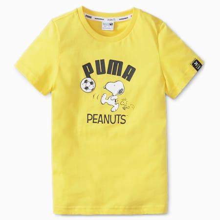 PUMA x PEANUTS Kids' Tee, Maize, small-SEA