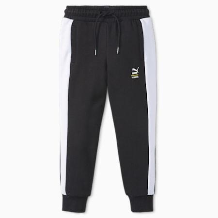 Pantalones deportivos T7 PUMA x PEANUTS para niños, Puma Black, pequeño