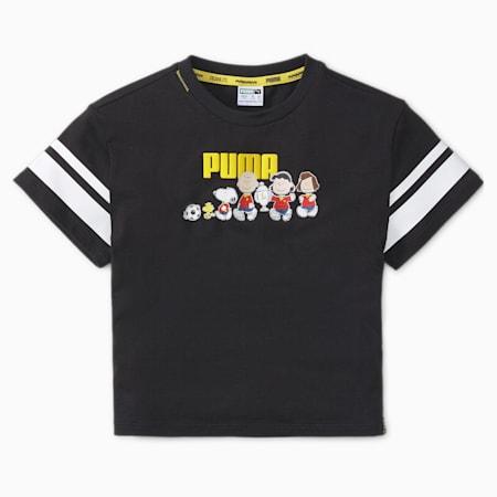 キッズ PUMA x PEANUTS Tシャツ 104-164cm, Puma Black, small-JPN