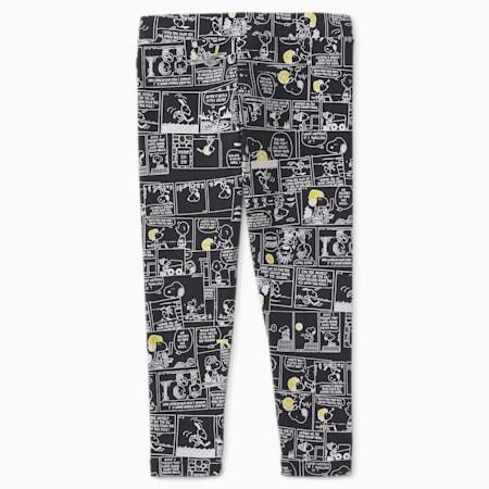 PUMA x PEANUTS Printed Kids' Leggings, Puma Black, small-GBR