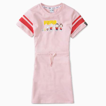 PUMA x PEANUTS Kids' Dress, Lotus, small-SEA