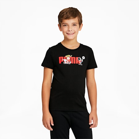 T-shirt PUMA x PEANUTS, enfant, Puma Black, petit