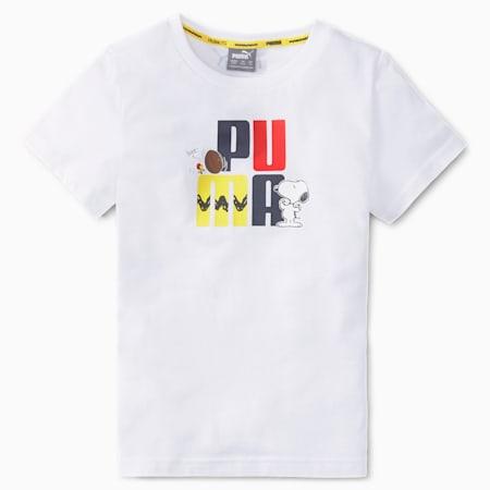 T-shirt PUMA x PEANUTS, enfant, Blanc Puma, petit
