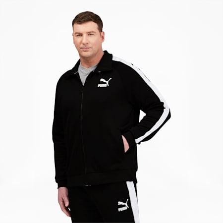 Chaqueta deportiva Iconic T7 BT para hombre, Puma Black-puma white, pequeño