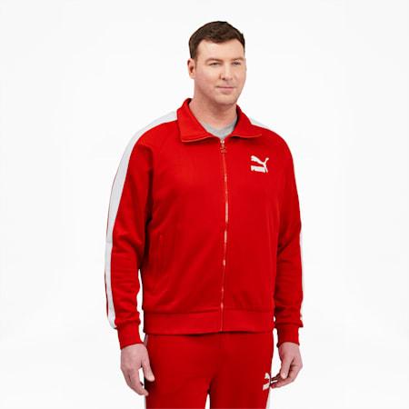 Chaqueta deportiva Iconic T7 BT para hombre, High Risk Red-Puma White, pequeño