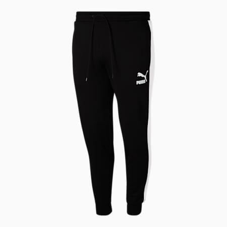 Pantalones deportivos Iconic T7 BT para hombre, Puma Black-Puma White, pequeño