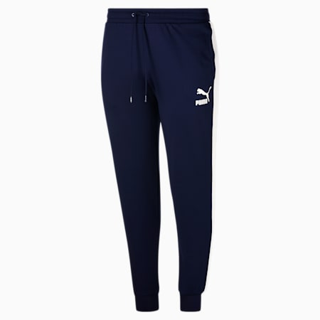 Pantalones deportivos Iconic T7 BT para hombre, Peacoat-Puma White, pequeño