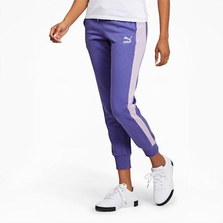 Pantalon de survêtementIconic T7, femme, Bleu brumeux, petit
