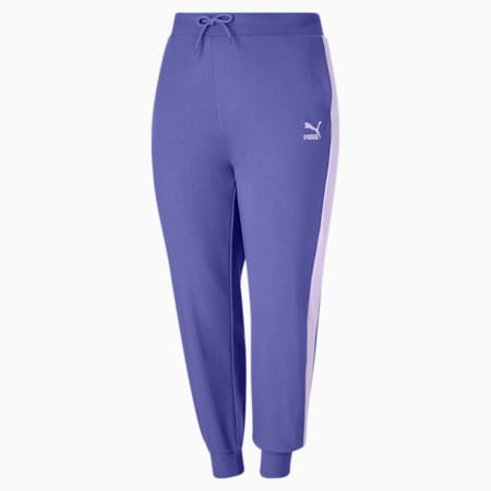 Pantalon de survêtement PL Iconic T7, femme, Bleu brumeux, petit