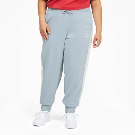 Pantalones deportivos Iconic T7 PL para mujer, Blue Fog, pequeño