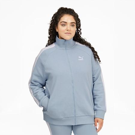 Chaqueta deportiva Iconic T7 para mujer PL, Blue Fog, pequeño
