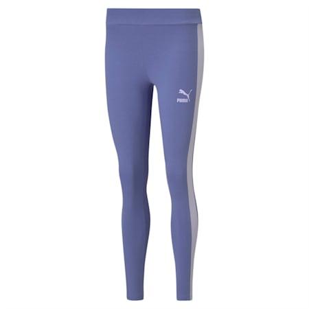 Legging Iconic T7, femme, Bleu brumeux, petit