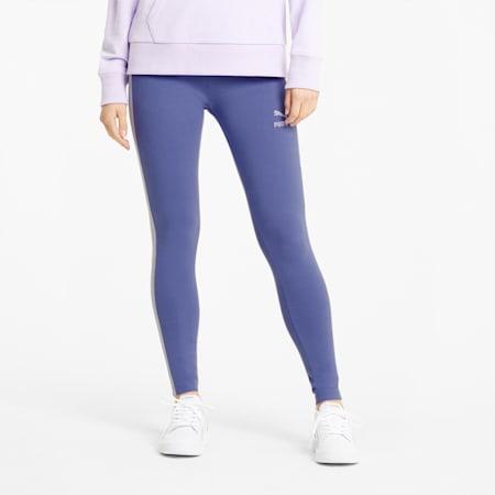 Leggings Iconic T7, femme, Bleu brumeux, petit