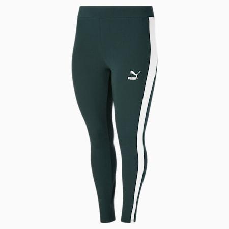 Legging Iconic T7 PL, femme, Pignons verts - Lueur ivoire, petit