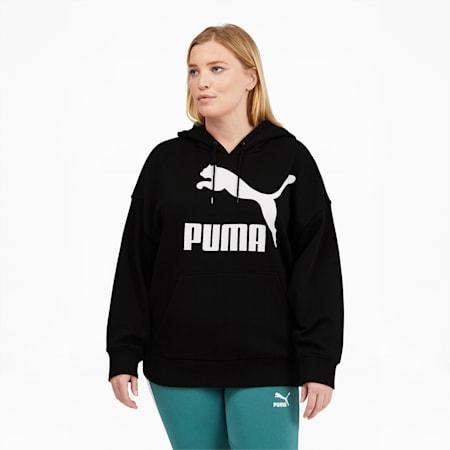 Sudadera con capucha y logo ClassicsPL para mujer, Puma Black, pequeño