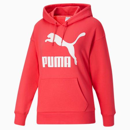 Sudadera con capucha y logo Classics para mujer, Paradise Pink, pequeño