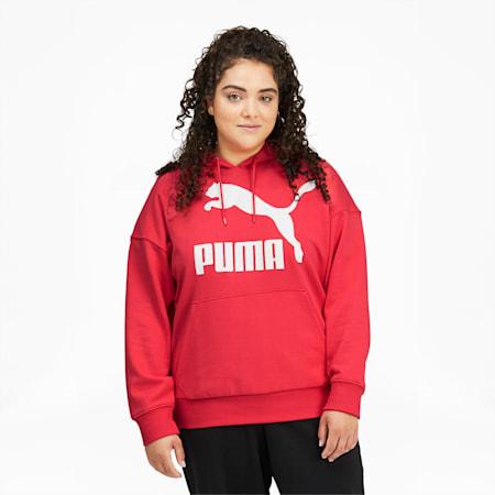 Sudadera con capucha y logo ClassicsPL para mujer, Paradise Pink, pequeño