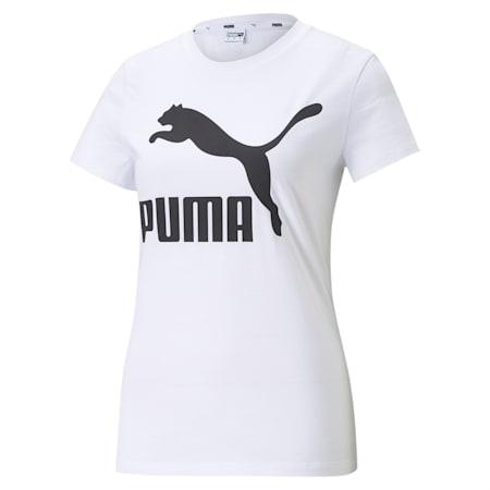 Camiseta Classics con logotipo para mujer, Puma White, pequeño