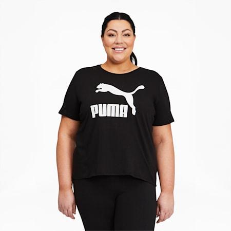Camiseta con logo Classics PL para mujer, Puma Black, pequeño