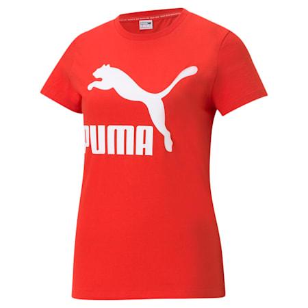 T-shirt à logo Classics, femme, Rouge pavot, petit