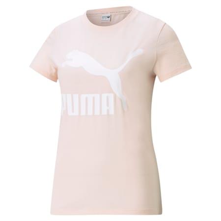 Camiseta Classics con logotipo para mujer, Cloud Pink, pequeño