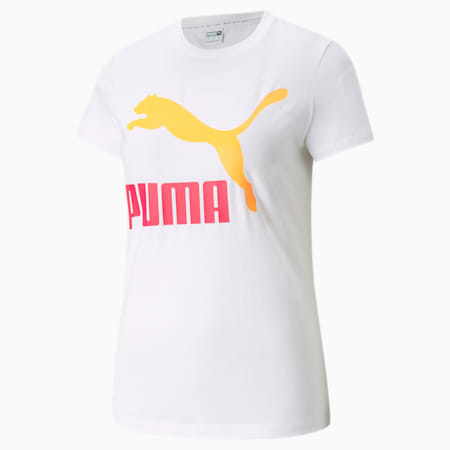 T-shirt à logo Classics, femme, Blanc Puma, petit