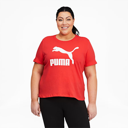 Camiseta con logo Classics PL para mujer, Poppy Red, pequeño
