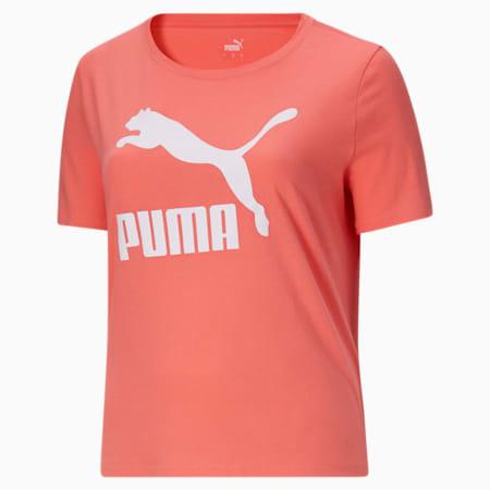 Camiseta con logo Classics PL para mujer, Georgia Peach, pequeño