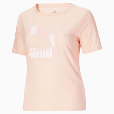 Camiseta con logo Classics PL para mujer, Lotus-Pearl, pequeño
