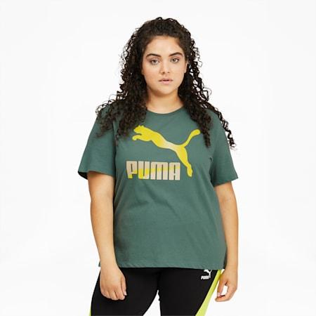 Camiseta con logo Classics PL para mujer, Blue Spruce, pequeño