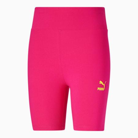 Shorts para andar en bicicleta Classics para mujer, Beetroot Purple-City Lights, pequeño