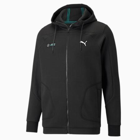 Chaqueta deportiva con capucha Mercedes F1 para hombre, Puma Black, pequeño