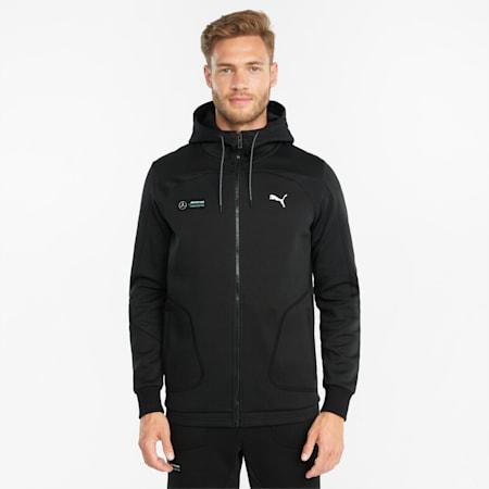 Mercedes F1 Hooded Men's  Sweat Jacket, Puma Black, small-GBR