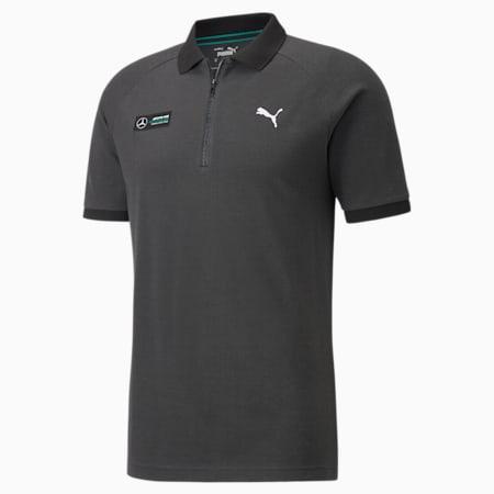 Mercedes F1 Two-Tone Men's  Polo Shirt, Puma Black, small-SEA